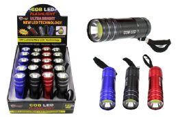 40 Bulk Cob Led Metal Promo Flashlight Ultra Bright