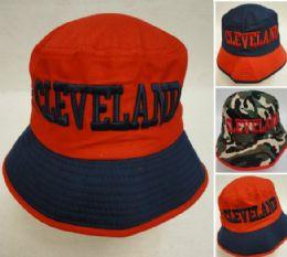 24 Bulk Bucket Hat [cleveland C] Navy/red