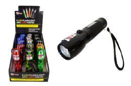 15 Bulk 8 Led Flashlight With Laser