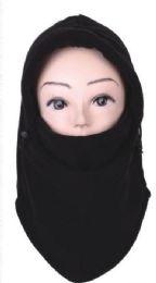 72 Bulk Unisex Fleece Face Masks Black Color Only