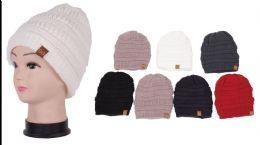 72 Bulk Unisex Winter Beanie Hat With Velvet Liner