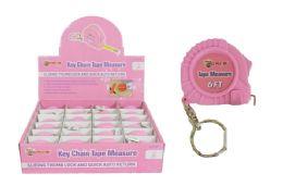 24 Bulk Keychain Pink Tape Measure
