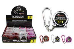 48 Bulk Keychain Tape Measure With Carabiner