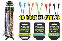 72 Bulk 10 Foot Xlarge Phone Cables With Free Rack At Apple