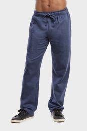 36 Bulk Men's Lightweight Fleece Sweatpants In Navy Mrl Size S