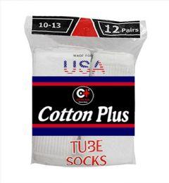 5040 Bulk Men's Long White Tube Socks, Size 10-13