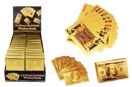 24 Bulk Gold Foil Playing Cards