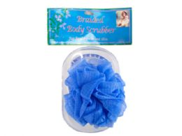 144 Bulk Body Scrubber With Tray In Assorted Colors