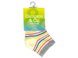144 Bulk Baby Socks 4.5-5 Assorted Colors