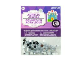 108 Bulk Small Silver Acrylic Jewels 145 Pack