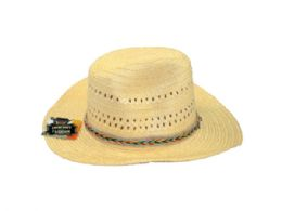 36 Bulk Woven Cowboy Hat In Assorted Colors