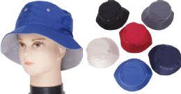 72 Bulk Men's Assorted Color Bucket Hat