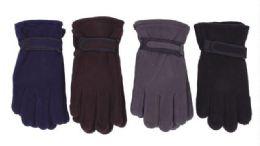 72 Bulk Men's Fleece Glove Assorted Colors