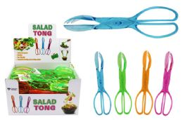 40 Bulk Translucent Salad Tongs
