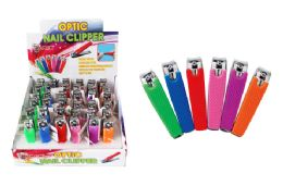 36 Bulk Finger Nail Clipper With Silicone Grip