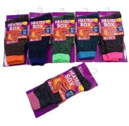 24 Bulk Women's Thermal Sock Size 9-11