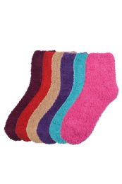 120 Bulk Women's Fuzzy Plush Soft Socks Size 9-11