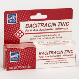 24 Bulk Lucky Bacitracin Zinc First Aid Antibiotic Ointment 0.5oz Boxed