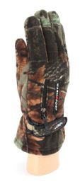 36 Bulk Adults Camouflage Fleece Gloves With Fur Lined