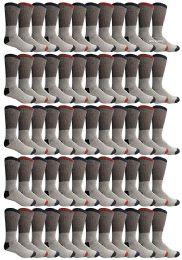 120 Bulk Yacht & Smith Mens Thermal Socks, Warm Cotton, Sock Size 10-13