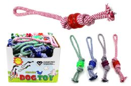 36 Bulk Dog Rope Toy With Rings