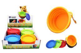 24 Bulk Pop Up Silicone Pet Bowl