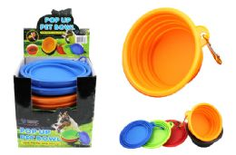 48 Bulk Pop Up Silicone Pet Bowl