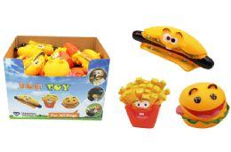 36 Bulk Squeaky Food Dog Toy