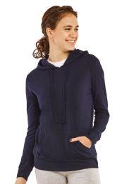24 Bulk Women's Lightweight Pullover Hoodie Navy