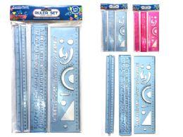 144 Bulk 3 Piece Ruler Set
