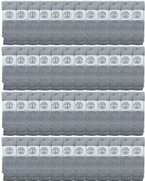 48 Bulk Yacht & Smith Men's 32 Inch Cotton King Size Extra Long Gray Tube SockS- Size 13-16