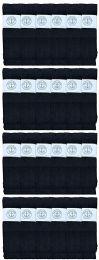 24 Bulk Yacht & Smith Men's 32 Inch Cotton King Size Extra Long Black Tube SockS- Size 13-16