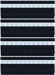 48 Bulk Yacht & Smith Men's 32 Inch Cotton King Size Extra Long Black Tube SockS- Size 13-16