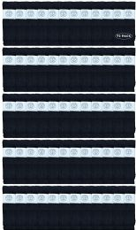 72 Bulk Yacht & Smith Men's 32 Inch Cotton King Size Extra Long Black Tube SockS- Size 13-16
