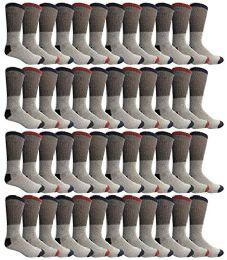 48 Bulk Yacht & Smith Womens Cotton Thermal Crew Socks , Warm Winter Boot Socks 9-11