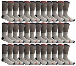 36 Bulk Yacht & Smith Womens Cotton Thermal Crew Socks , Warm Winter Boot Socks 10-13