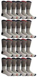 24 Bulk Yacht & Smith Womens Cotton Thermal Crew Socks , Warm Winter Boot Socks 10-13