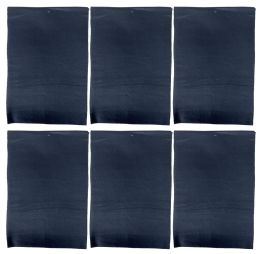 6 Bulk Yacht & Smith Womens Basic Winter Fleece Scarfs, Warm Assorted (6 Pieces Black a)