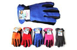 48 Bulk Kids Polar Fleece Gloves