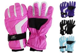 24 Bulk Ladies Ski Gloves
