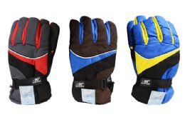 24 Bulk Mens Ski Gloves Extra Large