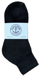 300 Bulk Yacht & Smith Cotton Mid Ankle Socks Bundle Set For Men Woman And Children In Solid Black