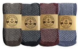 180 Bulk Yacht & Smith Non Slip Gripper Bottom Men's Winter Thermal Tube Socks Size 10-13