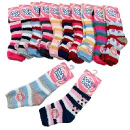 48 Bulk Womens NoN-Slip Soft & Cozy Fuzzy Socks