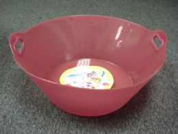 12 Bulk Bucket Round Frosted With Handle