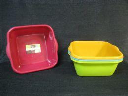 36 Bulk Plastic Basin Rectangle New Material Assorted Color