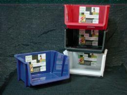 24 Bulk Plastic Stackable Bin Assorted Color