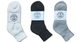 360 Bulk Yacht & Smith Women's Cotton Mid Ankle Socks Set Assorted Colors Black, White Gray Size 9-11
