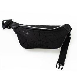 24 Bulk Diamond Design Large Fanny Packs Belt Bags In Black
