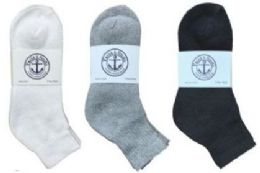 360 Bulk Yacht & Smith Kid's Cotton Mid Ankle Socks Set Assorted Colors Black, White Gray Size 6-8